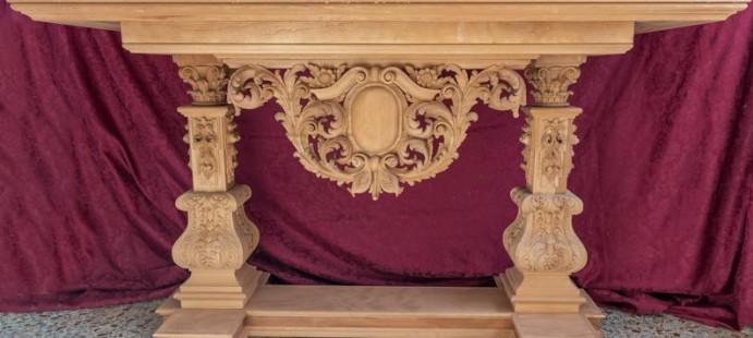 Mesa de Altar-Realizada para la cofradía de la Vera Cruz y Caridad de Rute