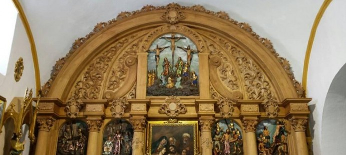 Retablo Mayor-Realizado para la Parroquia de Stma. Mar�a de la Anunciaci�n y San Mart�n de Purullena, Granada