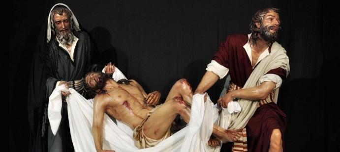 GRUPO DEL TRASLADO AL SEPULCRO Dos imagenes nuevas-Imagenes de los Santos Varones que acompa�an al Cristo del Traslado al Sepulcro