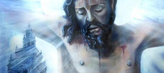 Cartel Semana Santa de Jerez de los Caballeros -Cartel realizado para la Semana Santa de Jerez de los Caballeros 2016, Badajoz, representando al Stmo. Cristo de la Piedad de la Hermandad del Santisimo.