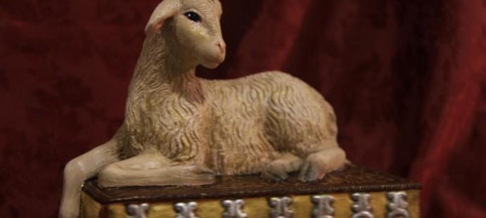 Cordero M�stico sobre el libro de los siete sellos-Realizada para la Archicofrad�a del Sant�simo Sacramento Pura y Limpia Concepci�n y �nimas Benditas de Sevilla