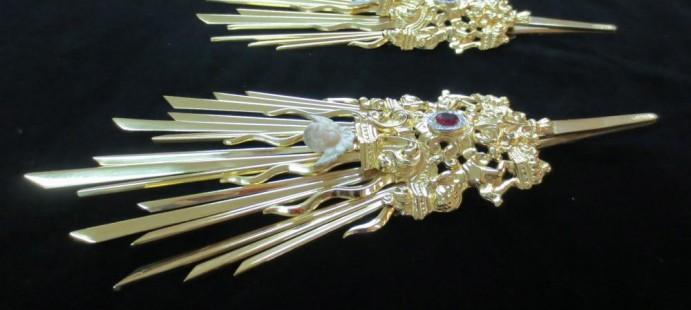 HDAD. SACRAMENTAL DEL PRENDIMIENTO DE ALMERIA-Potencias en Plata de Ley chapadas en Oro.