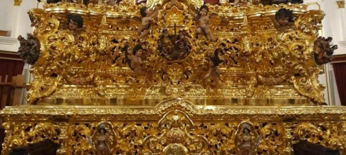 Stmo Cristo de la Misericordia-Se concluye el dorado del paso de la Hdad del popular barrio de la Viña en Cádiz.