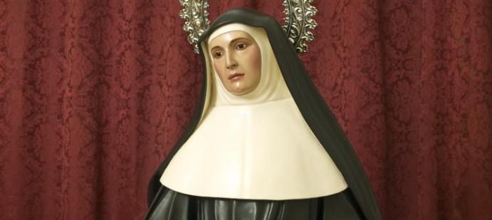 Santa Juana de Lestonnac-Realizada para Jerez de la Frontera. Est� tallada en madera de cedro policromada al �leo, con un tama�o de 130 cm.