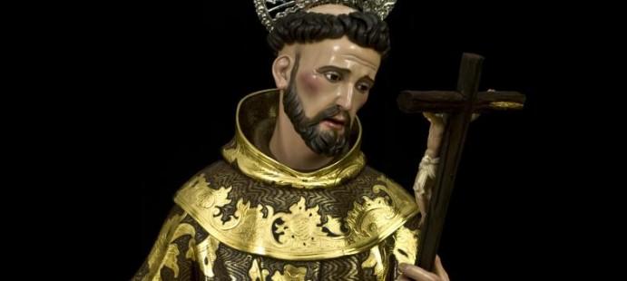 San Francisco de As�s-Realizada en madera de cedro estofada y policromada para la Hermandad de la Vera Cruz de Sevilla