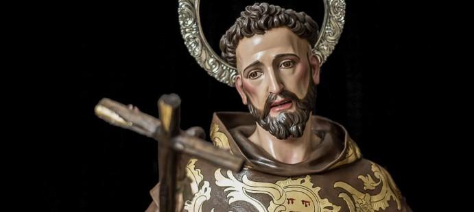 San Francisco de Asís-Realizada a tamaño natural, para la parroquia de san Francisco de Asís de Sevilla